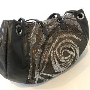 Valentino Sequin Flower Bag